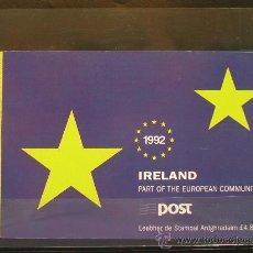 Sellos: 1992 CARNET ENTRADA DE IRLANDA EN LA CEE. Lote 21938125
