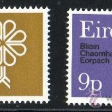 Sellos: IRLANDA AÑO 1970 YV 239/40*** AÑO EUROPEO PROTECCIÓN NATURALEZA - ÁRBOLES - FLORA - AVES - FAUNA. Lote 22672520