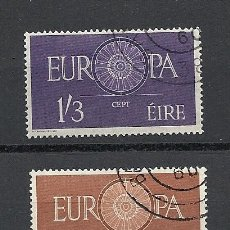 Sellos: IRLANDA 1960, YVERT Nº 146/147, TEMATICA EUROPA, MATASELLADO-USADO.. Lote 27727991