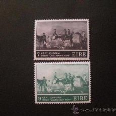 Sellos: IRLANDA 1975 IVERT 317/8 *** EUROPA - CUADRO DE ROBERT HEALY - PINTURA. Lote 29454466