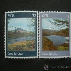 Sellos: IRLANDA 1977 IVERT 978/9 *** EUROPA - PAISAJES. Lote 29919377
