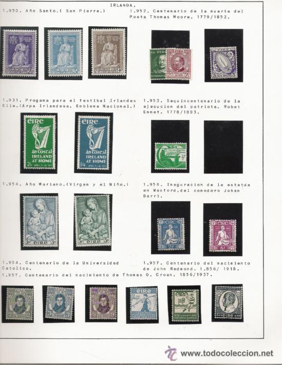Sellos: GRAN COLECCION DE IRLANDA MONTADA EN ALBUM CON FILOESTUCHE 1950/1996 - Foto 3 - 30277754