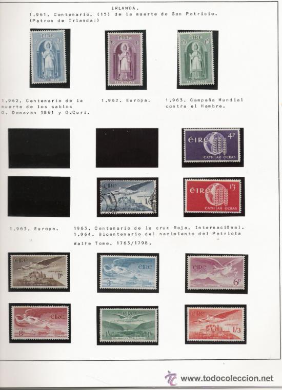 Sellos: GRAN COLECCION DE IRLANDA MONTADA EN ALBUM CON FILOESTUCHE 1950/1996 - Foto 4 - 30277754