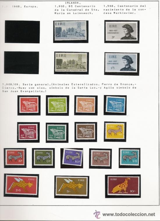 Sellos: GRAN COLECCION DE IRLANDA MONTADA EN ALBUM CON FILOESTUCHE 1950/1996 - Foto 5 - 30277754