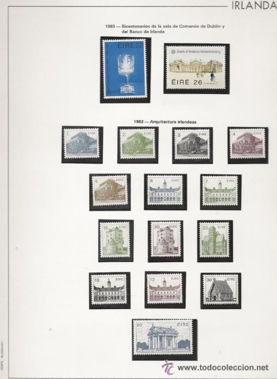Sellos: GRAN COLECCION DE IRLANDA MONTADA EN ALBUM CON FILOESTUCHE 1950/1996 - Foto 8 - 30277754