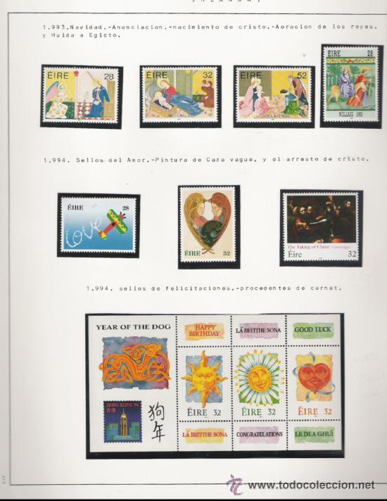 Sellos: GRAN COLECCION DE IRLANDA MONTADA EN ALBUM CON FILOESTUCHE 1950/1996 - Foto 16 - 30277754