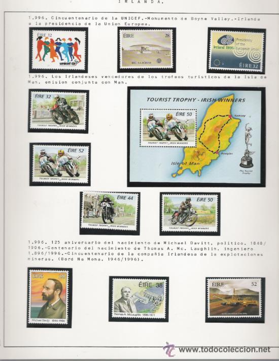 Sellos: GRAN COLECCION DE IRLANDA MONTADA EN ALBUM CON FILOESTUCHE 1950/1996 - Foto 18 - 30277754