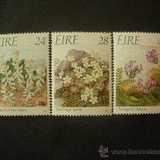 Sellos: IRLANDA 1988 IVERT 657/9 *** FAUNA Y FLORA DE IRLANDA (XI) - ESPECIES VEGETALES PELIGRO EXTINCIÓN. Lote 32074179