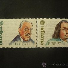 Sellos: IRLANDA 1985 IVERT 566/7 *** EUROPA - AÑO EUROPEO DE LA MÚSICA - PERSONAJES. Lote 32074229