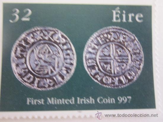 SERIE SELLOS IRLANDA PRIMERA MONEDA IRLANDESA.AÑO 1997 (Sellos - Extranjero - Europa - Irlanda)