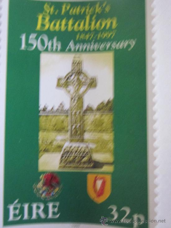 SERIE SELLOS IRLANDA 150 AÑOS BATALLON SAN PATRICIO.AÑO 1997 (Sellos - Extranjero - Europa - Irlanda)