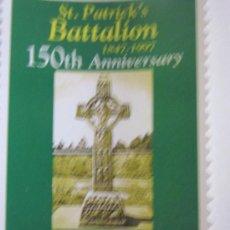 Sellos: SERIE SELLOS IRLANDA 150 AÑOS BATALLON SAN PATRICIO.AÑO 1997. Lote 33642980