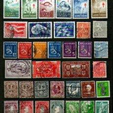 Sellos: LOTE DE 36 ANTIGUOS SELLOS USADOS DE IRLANDA Y FINLANDIA - LO QUE SE VE EN IMÁGENES.. Lote 35995165