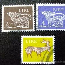 Sellos: IRLANDA 1971 YVERT & TELLIER Nº 256 + 259 + 260 º. Lote 36056185