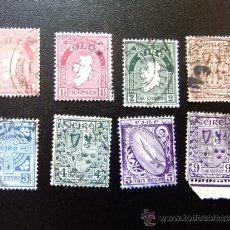 Sellos: IRLANDA 1941 YVERT & TELLIER Nº LOTE DE SELLOS SERIE CORRIENTE 80 AL 87. Lote 36062910