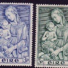Sellos: IRLANDA. 1954. AÑO MARIANO. YVERT 122/3 **. Lote 36755635
