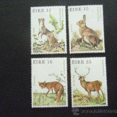Sellos: IRLANDA Nº YVERT 424/7*** AÑO 1980. FAUNA Y FLORA. ANIMALES SALVAJES. Lote 37594164
