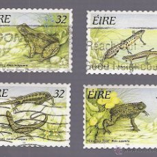 Sellos: -54026 4 SELLOS IRLANDA, NºS 916-19, TEMA ANIMALES, MATASELLADOS. Lote 41203435