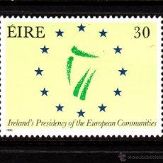 Sellos: IRLANDA 701** - AÑO 1990 - PRESIDENCIA IRLANDESA DEL CONSEJO DE EUROPA. Lote 44278761