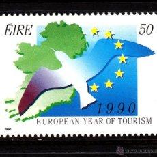 Sellos: IRLANDA 702** - AÑO 1990 - AÑO EUROPEO DEL TURISMO. Lote 44278773
