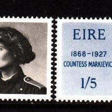 Sellos: IRLANDA 209/10** - AÑO 1968 - CENTENARIO DEL NACIMIENTO DE LA CONDESA MARKIEVICZ. Lote 45155516