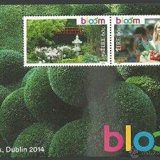 Sellos: IRLANDA 2014 HOJA BLOQUE BLOOM. Lote 45304103