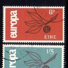 Sellos: IRLANDA: EUROPA 1965 - YVERT N.175-176 COMPLETA EN USADO. Lote 45779682