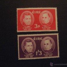 Timbres: IRLANDA Nº YVERT 153/4*** AÑO 1962. CENTENARIO MUERTE SABIOS O´DONOVAN Y O´CURRY. Lote 47123698