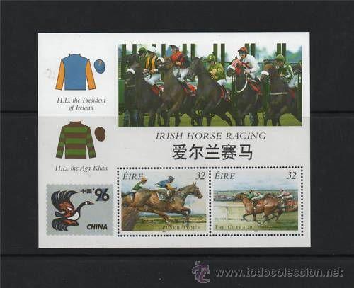 IRLANDA HB 1996 CHINA 96 CARRERAS DE CABALLOS NUEVO LUJO MNH *** SC (Sellos - Extranjero - Europa - Irlanda)