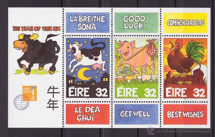IRLANDA 1997 HB AÑO DEL TORO NUEVO LUJO MNH *** SC (Sellos - Extranjero - Europa - Irlanda)
