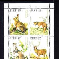 Sellos: IRLANDA HB 3** - AÑO 1980 - FAUNA - ANIMALES DEL BOSQUE. Lote 50553200