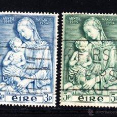 Sellos: IRLANDA 122/23 - AÑO 1954 - AÑO MARIANO - PINTURA - OBRA DE DELLA ROBBIA. Lote 51516313