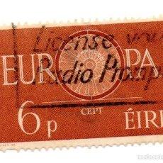 Sellos: IRLANDA 1960-N.153B- EUROPA-MARRON. Lote 55142285