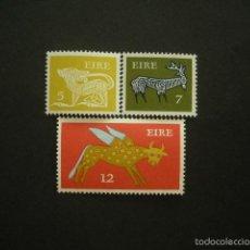 Sellos: IRLANDA 1974 IVERT 300/2 *** SERIE BÁSICA - ANIMALES ESTILIZADOS . Lote 55654864