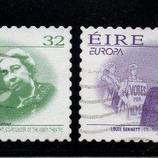 Sellos: IRLANDA 945/46 - AÑO 1996 - EUROPA - MUJERES CELEBRES. Lote 56221236