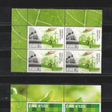 Sellos: IRELAND (EIRE) 2016 - EUROPA: THINK GREEN STAMP SET BLOCK OF 4 MNH. Lote 57543404