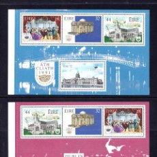 Sellos: IRLANDA HB 9/10** - AÑO 1991 - DUBLIN, CAPITAL EUROPEA DE LA CULTURA. Lote 58255942