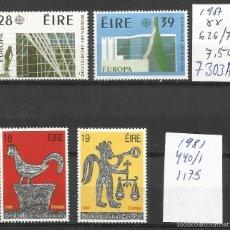 Sellos: 7303A-2 SERIES COMPLETAS IRLANDA SERIES EUROPA,ARQUEOLOGIA.626/7+440/1.AÑOS 1987 Y 1981,MNH** NUEVOS. Lote 58502396