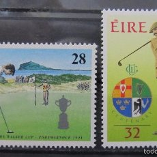 Sellos: IRLANDA 1991 - GOLF - YVERT Nº 772-73 - MICHEL 769-770 - SCOTT 839-840. Lote 61101763