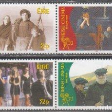 Sellos: IRLANDA IVERT 971/4, EL CINE IRLANDES, NUEVO *** SERIE COMPLETA. Lote 62893180