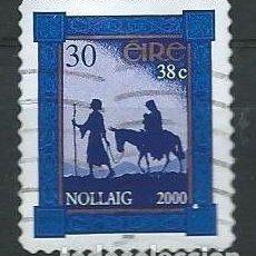 Sellos: IRLANDA,IRELAND,EIRE,2000,NAVIDAD,USADO. Lote 72743651