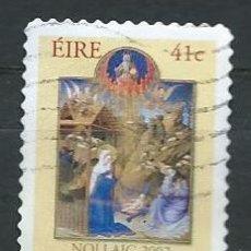 Sellos: IRLANDA,IRELAND,EIRE,2002,NAVIDAD,USADO. Lote 72743663