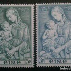 Sellos: IRLANDA EIRE , YVERT Nº 122 123 * SERIE COMPLETA CON CHARNELA. Lote 84742860