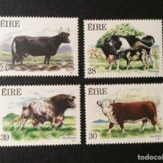 Sellos: IRLANDA Nº YVERT 628/1*** AÑO 1987.FAUNA Y FLORA. RAZAS BOVINAS. Lote 89524296