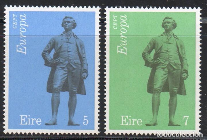 IRLANDA AÑO 1974 YV 304/5** EUROPA - ESCULTURA - ARTE - J H FOLEY - PERSONAJES (Sellos - Extranjero - Europa - Irlanda)