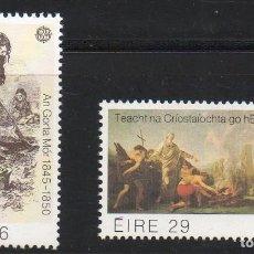 Sellos: IRLANDA AÑO 1982 YV 467/8** EUROPA - HECHOS HISTÓRICOS - PINTURA - RELIGIÓN. Lote 98806955