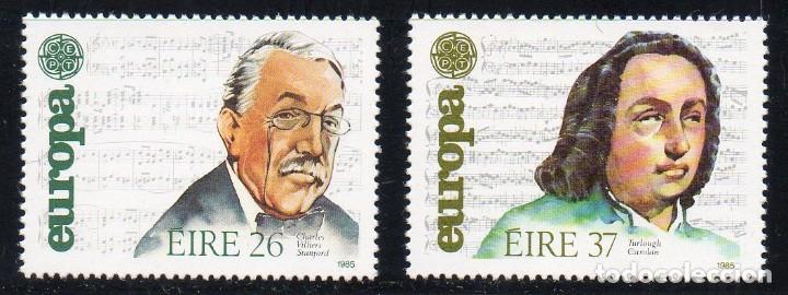 IRLANDA AÑO 1985 YV 566/7** EUROPA - AÑO EUROPEO DE LA MÚSICA - PERSONAJES (Sellos - Extranjero - Europa - Irlanda)