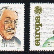 Sellos: IRLANDA AÑO 1985 YV 566/7** EUROPA - AÑO EUROPEO DE LA MÚSICA - PERSONAJES. Lote 98807383