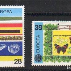 Sellos: IRLANDA AÑO 1986 YV 592/3** EUROPA - PROTECCIÓN DE LA NATURALEZA MEDIO AMBIENTE - MARIPOSAS - FAUNA. Lote 98807519