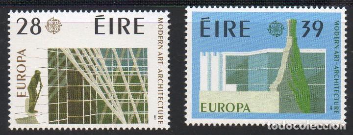 IRLANDA AÑO 1987 YV 626/7** EUROPA - EDIFICIOS - ARQUITECTURA MODERNA (Sellos - Extranjero - Europa - Irlanda)